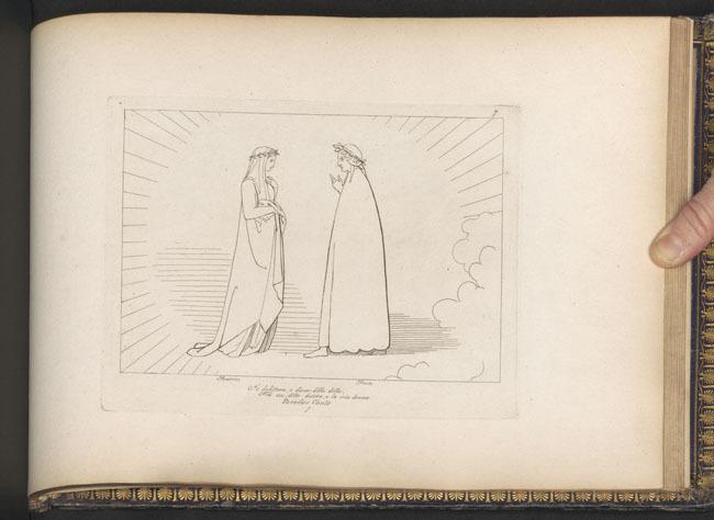 Flaxman, Dante queries Beatrice