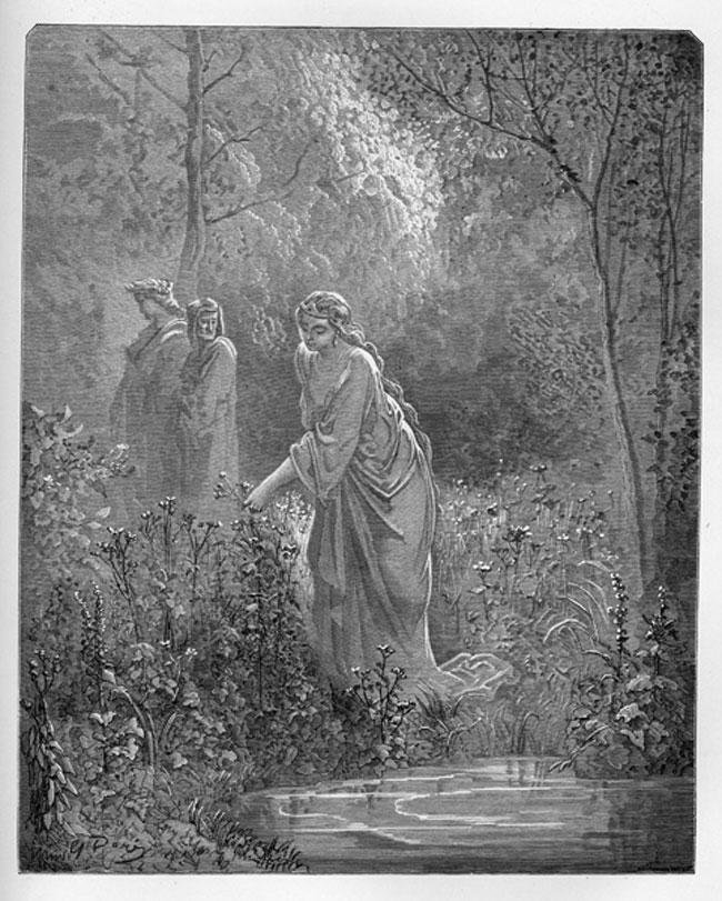 Imágenes de la Divina Comedia, El Purgatorio