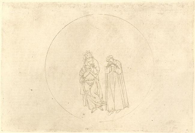 Botticelli, Dante learns of exile