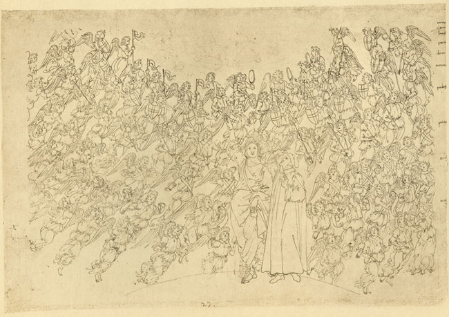 Botticelli, Angelic choirs