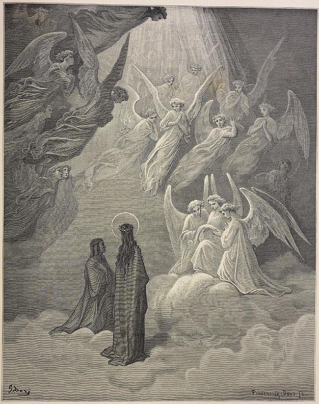 Imágenes de la Divina Comedia, el Paraíso.      Imperdible